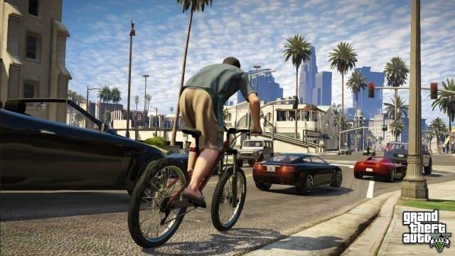 Ande de bicicleta em GTA 5