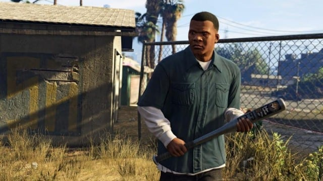 Imagem de Franklin, um dos protagonistas do jogo
