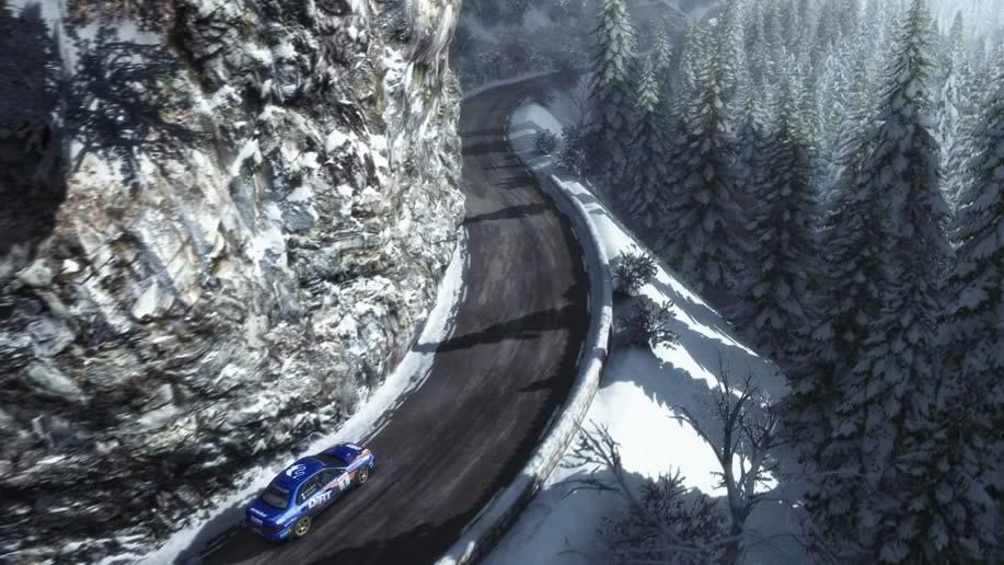Dirt Rally subindo a montanha gelada