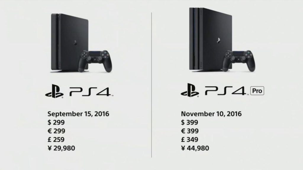 Preço do PlayStation 4 Slim e do PlayStation 4 Pro no mundo
