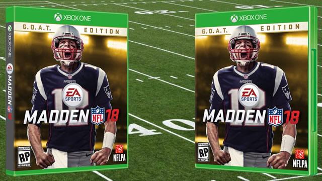 Tom Brady será a capa de Madden NFL 18