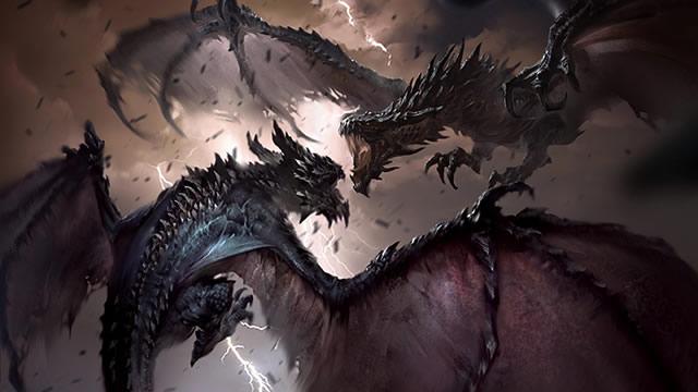 Os dragões de Skyrim
