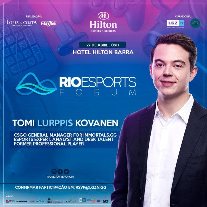 Tomi Kovanen da Immortals no Rio Esports Forum
