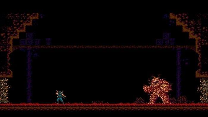 O Mensageiro enfrenta o monstro de folhas
