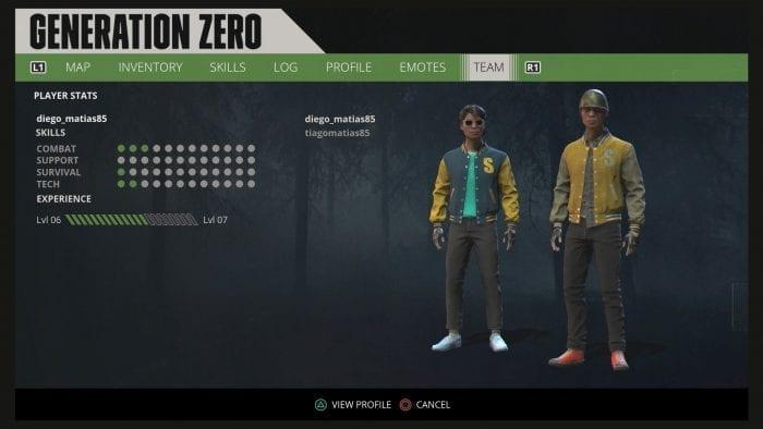 tela do grupo formado por 2 jogadores