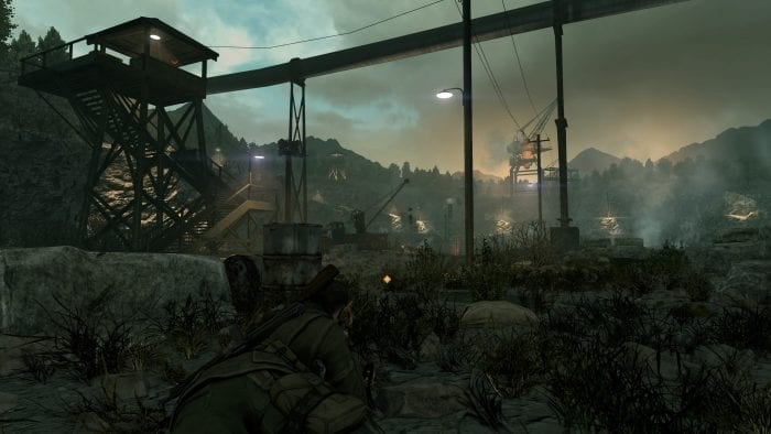 fase noturna de Sniper Elite V2