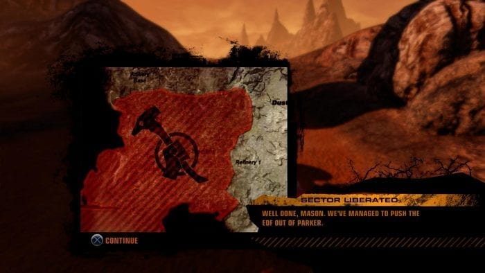 Red Faction Guerrilla ReMarstered mapa