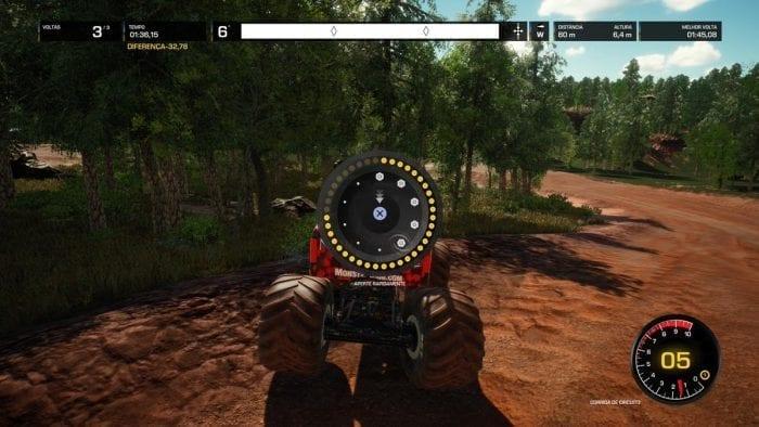 conserto do pneu do monster truck