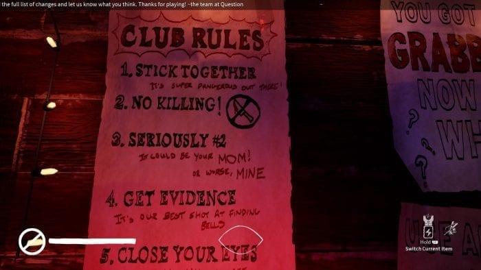 Blackout Club Rules