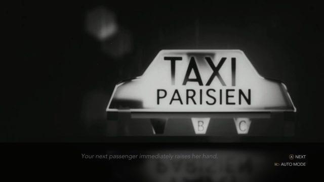 Um taxista na noite parisiense