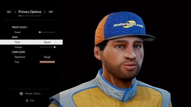 NASCAR Heat 5 tem várias configurações de avatar