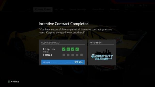 Cumprir contratos do patrocinador são uma forma de deixar seu carro mais rápido