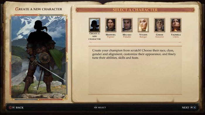 Pathfinder Kingmaker Character Creation