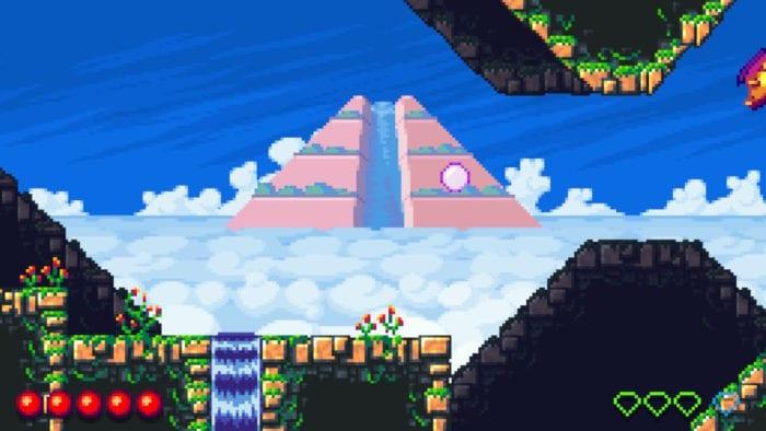 Witcheye mundo 4 - Fase com Templo ao fundo