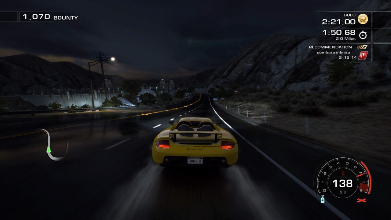 Corredor na chuva a noite