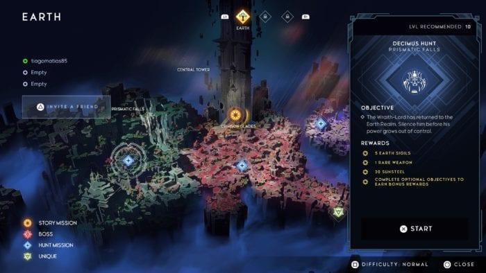 Mapa de fases de Godfall