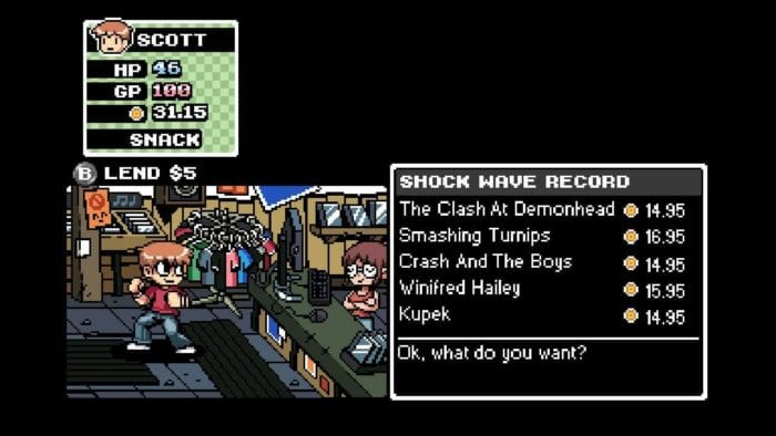 Lanchonete em Scott Pilgrim The Game