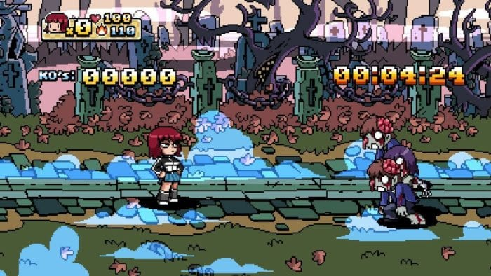 Modo Survival Horror em Scott Pilgrim The Game