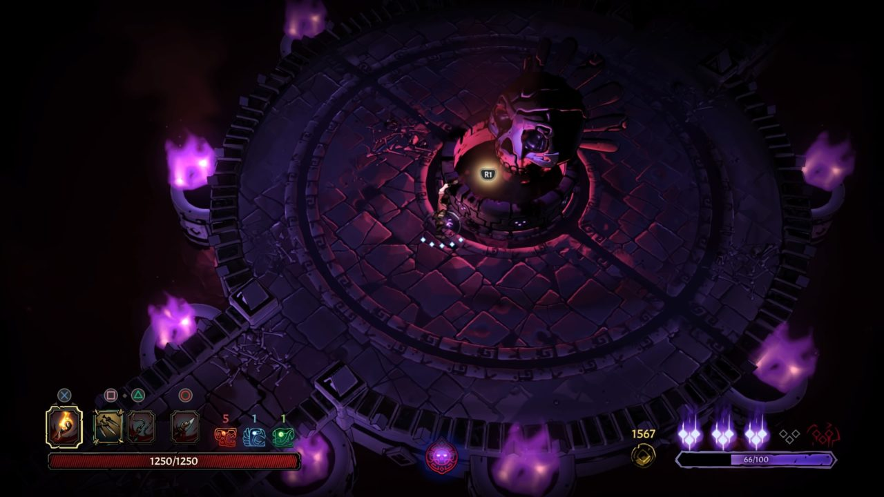 Curse of the Dead Gods Sala de Vida