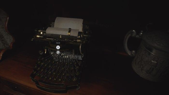resident evil máquina de escrever