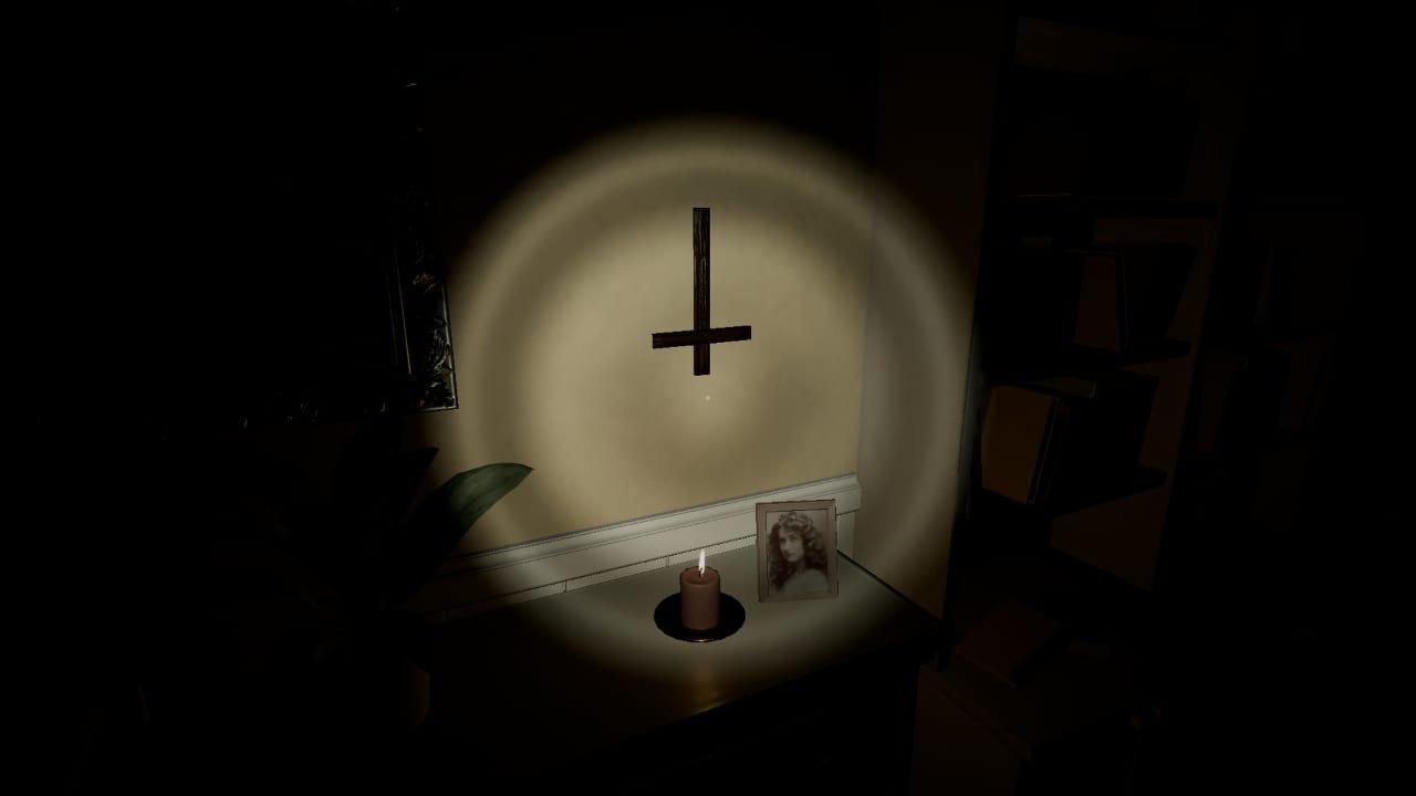 Evil Inside possui um quebra-cabeça fácil de ser resolvido logo após a cruz ficar invertida.