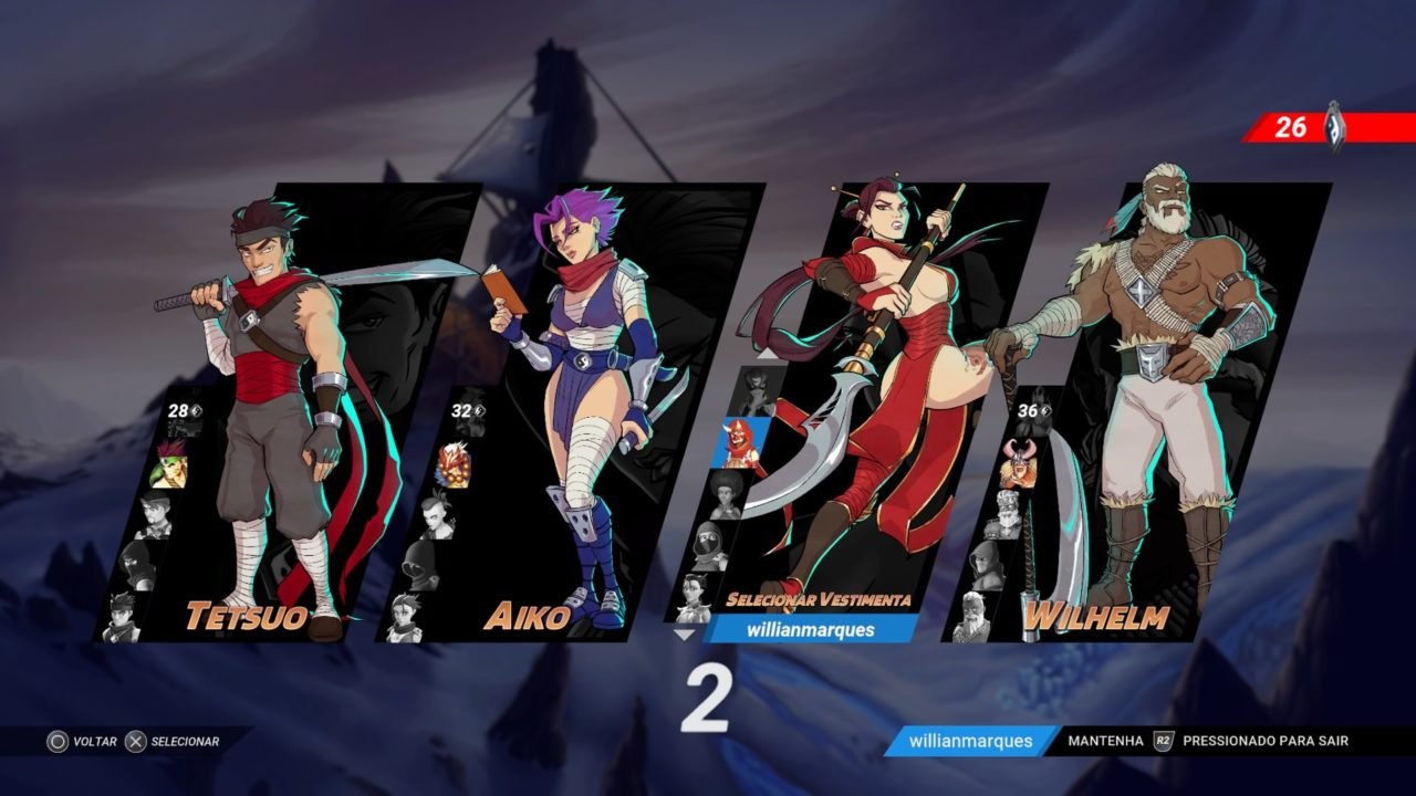 Seleção de personagens