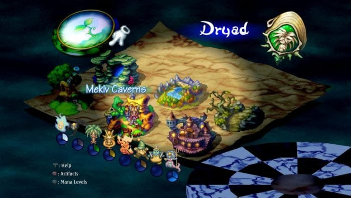 Mapa Mundi de Legend of Mana